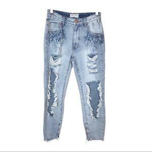 One Teaspoon Blu Hart High Waisted Freebird Jeans